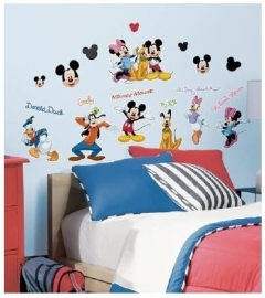 Mickey en Minnie Mouse Muurstickers - Roommates