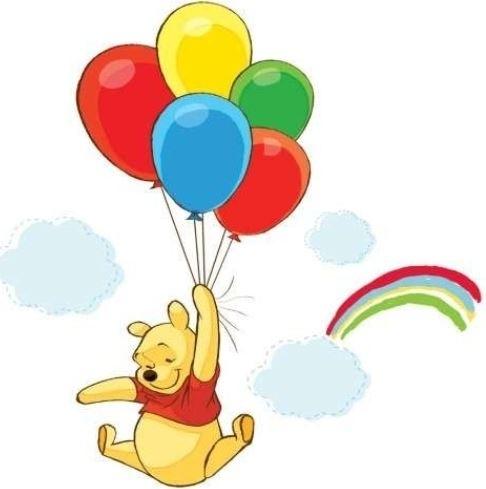 Muurstickers Winnie The Pooh Zwart Wit.Winnie De Pooh Disneykamers