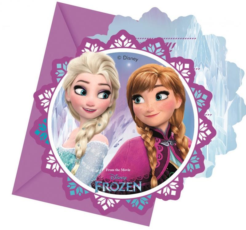 Disney Frozen Northern Lights Uitnodigingen - 6 stuks