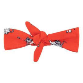 Quapi haarband ASHLEY flame red animal