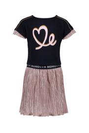 NONO pleated jurkje Mary 5811 pink lady
