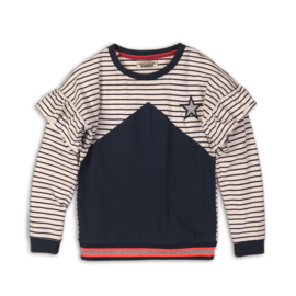DJ Dutchjeans sweater 34036 navy/ white/ stripe