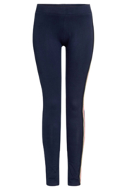 TOPitm legging Rowena dark blue/ taupe