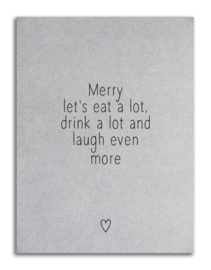 KAART MERRY LET'S EAT A LOT | ZOEDT