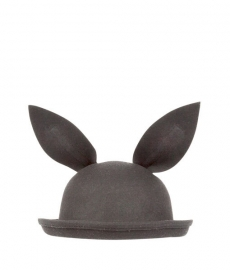 BUNNY HAT BLACK MINI DRESSING