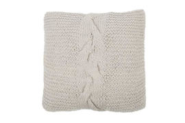 KUSSEN KNITTED GRENOBLE LIGHT GREY | MRS. BLOOM
