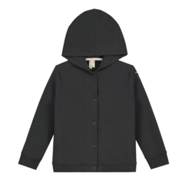 HOODED CARDIGAN NEARLY BLACK | GRAY LABEL