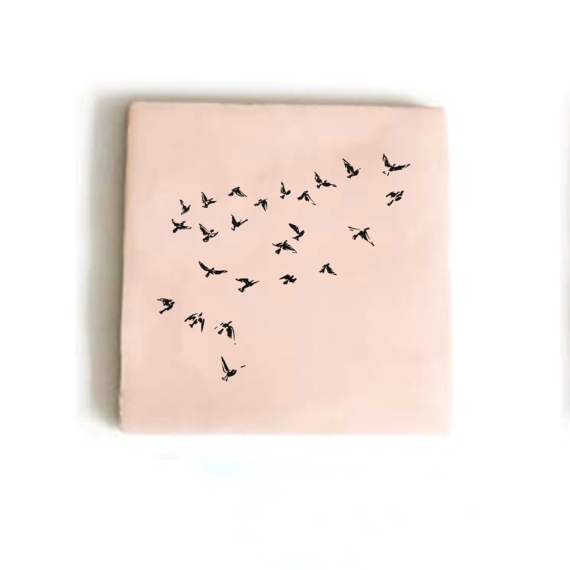 TEGEL BIRDS ROZE | IMD DESIGN