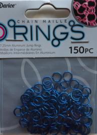 aluminium chain maille 7.25 x 1 mm, donkerblauw