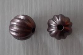 Acryl kraal pompoenvorm 10 mm donkerbruin