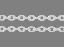 Jasseron zilverkleur 4 x 3 mm, 50 cm
