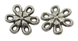 Link tibetaanse stijl rond met 5 oogjes in bloemvorm, 20 s tuks