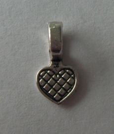 metalen plakhanger met bevestigingsoog hartje, 4 stuks