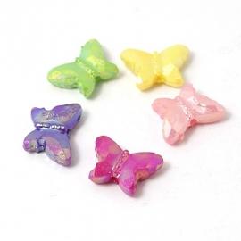 Kleurenmix van acryl vlinderkraaltjes