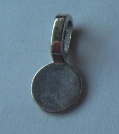 metalen plakhanger met bevestigingsoog rond, 5 stuks