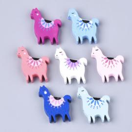Houten kraal alpaca in diverse kleuren
