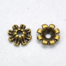 Kralenkapje bloem met omgekrulde rand, 25 stuks