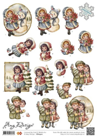 Knipvel Amy Design Kerst kinderen