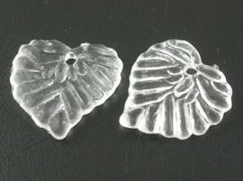 Acryl hanger blaadje transparant