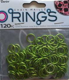 aluminium chain maille 12 x 2 mm, groen