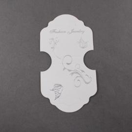 Display kaartje voor ketting of armband, 10 stuks