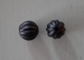 Acryl kraal pompoenvorm 10 mm zwart