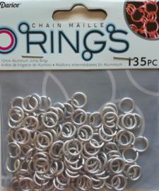 aluminium chain maille 10 x 2 mm, zilverkleur