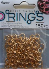 aluminium chain maille 7.25 x 1 mm, goudkleur