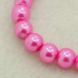 Glaspareltjes 4mm  roze