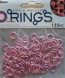 aluminium chain maille 10 x 2 mm, lichtroze