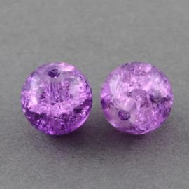 Cracklekraal in lila 8mm, 20 stuks