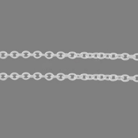 Jasseron zilverkleur 2 x 1,5 mm, 50 cm