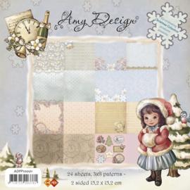Paperblock Amy design Kerst