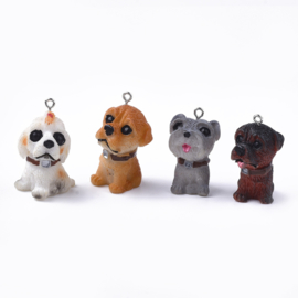 Resin hanger hondje