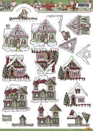 Knipvel Yvonne Creations - kersthuisje