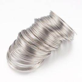 Memory wire voor ketting 0,6 mm dik en diameter 11,5 cm