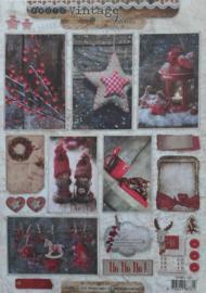 Studio Light - Vintage Line - kerst rood