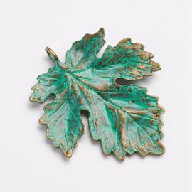 Hanger blad groen patina