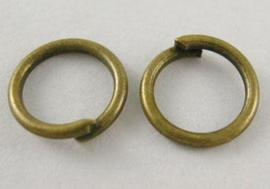 Buigringen antiek bronskleur 6 mm