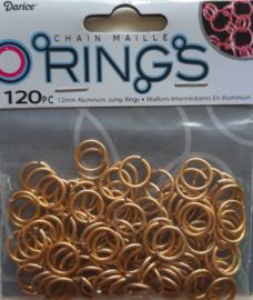 aluminium chain maille 12 x 2 mm, goudkleur
