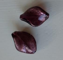 zilverfolie wokkelkraal in aubergine