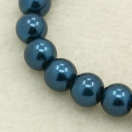 Glaspareltjes 4mm donkerblauw