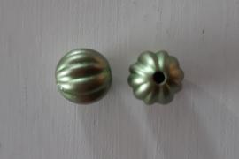 Acryl kraal pompoenvorm 10 mm groen