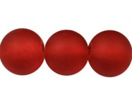 Glaskraal frosted in rood, 20 stuks