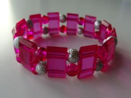 Fuchsia roze armband