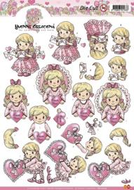 Uitdrukvel Yvonne Creations meisje in roze