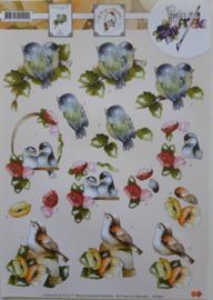 3D-knipvel vogeltjes
