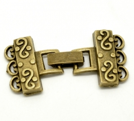 Prachtig clip-slot in antiek bronskleur