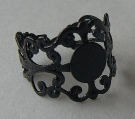 Verstelbare plakring brocant in zwart