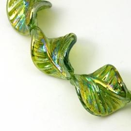Lampwork kraal blad groen